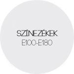 Színezékek E100-E180